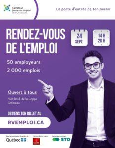 Affiche du Rendez-vous de l'emploi